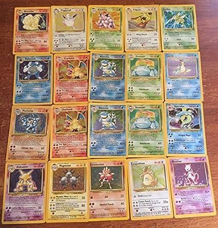 10 Lot Original Vintage Rare Pokémon Cards 1st Edition Holo Included Guaranteed