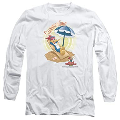 de13066ef748 Image Unavailable. Image not available for. Color  Woody Woodpecker  Animated Cartoon Character Summertime Adult Long Sleeve ...