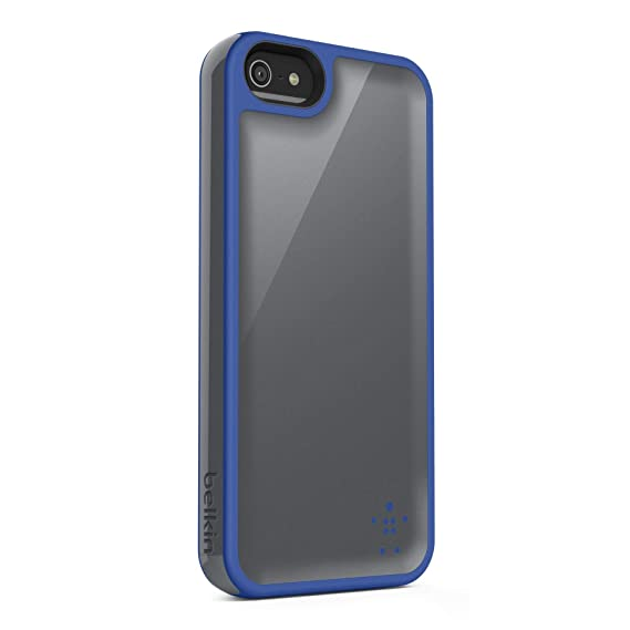 finest selection d86f5 a4e44 Belkin Grip Max Case / Cover for iPhone 5 and 5S (Gray / Blue)