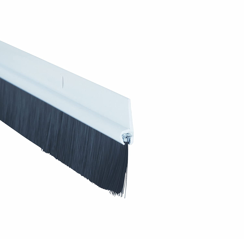 Fixman 447234 Bas de porte de garage aluminium et brosse 50 mm Multicolore