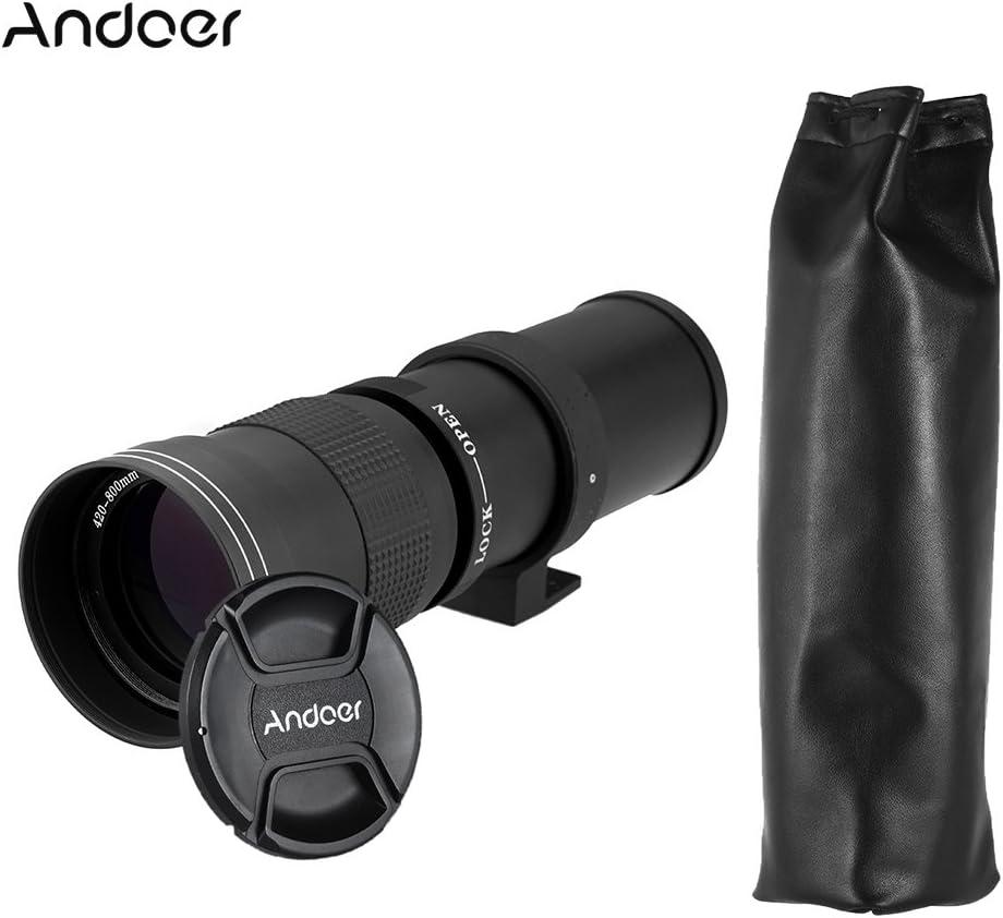 عدسة تكبير يدوية فائقة الدقة بعدسة تكبير 420-800 ملم F/8.3-16 HD مع T-Mount لكاميرا Canon Nikon Minolta Sony Pentax Olympus DSLR