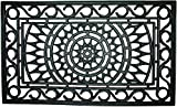 Entryways Sunburst Recycled Rubber and Natural Latex Doormat, 18'' X 30'' X .50''