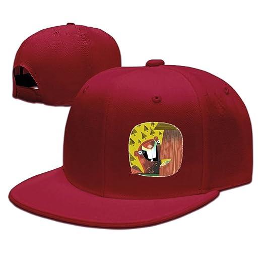 567a2deb028e5 ChengGo Canada Beaver College Students Cool Visor Hats Sized For Climbing  Activities Flat Baseball Caps