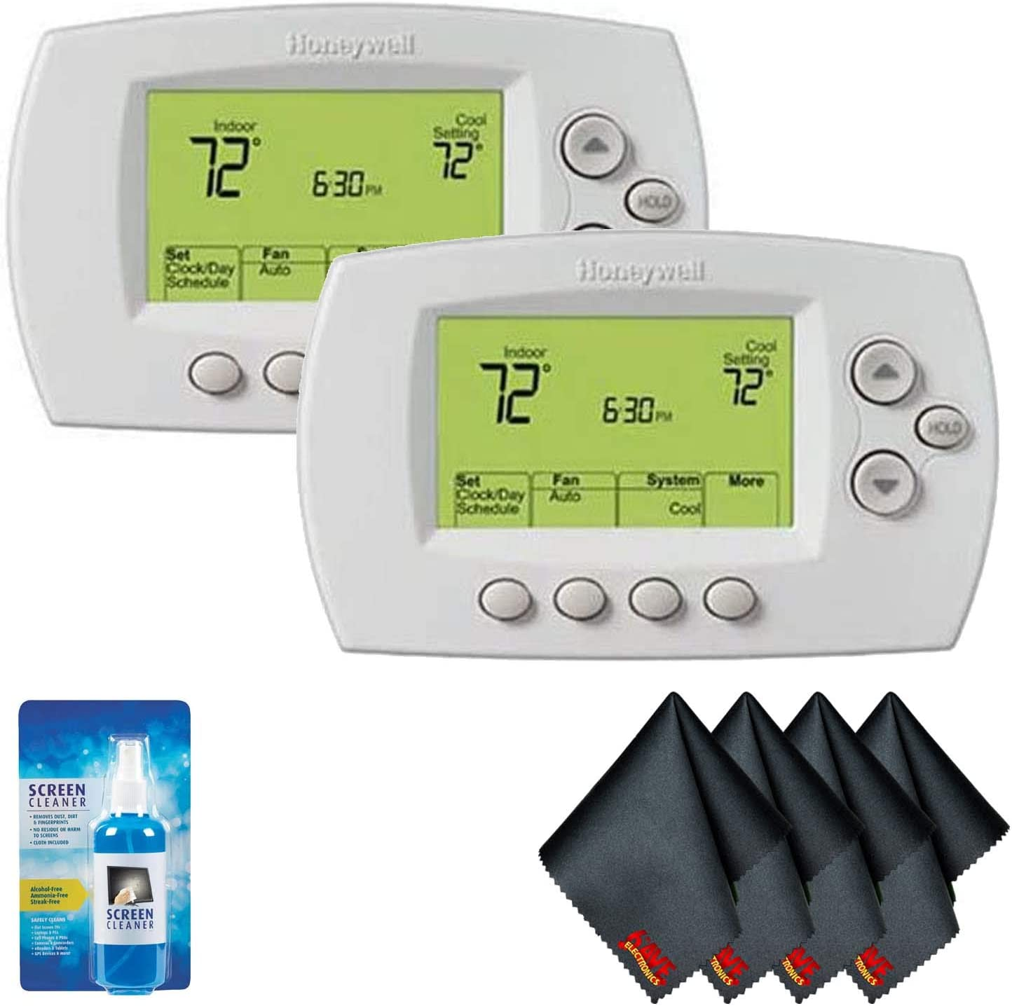 Honeywell RTH6580WF Wi-Fi 7-Day Programmable Thermostat (2-Pack) with Screen Cleaning Kit