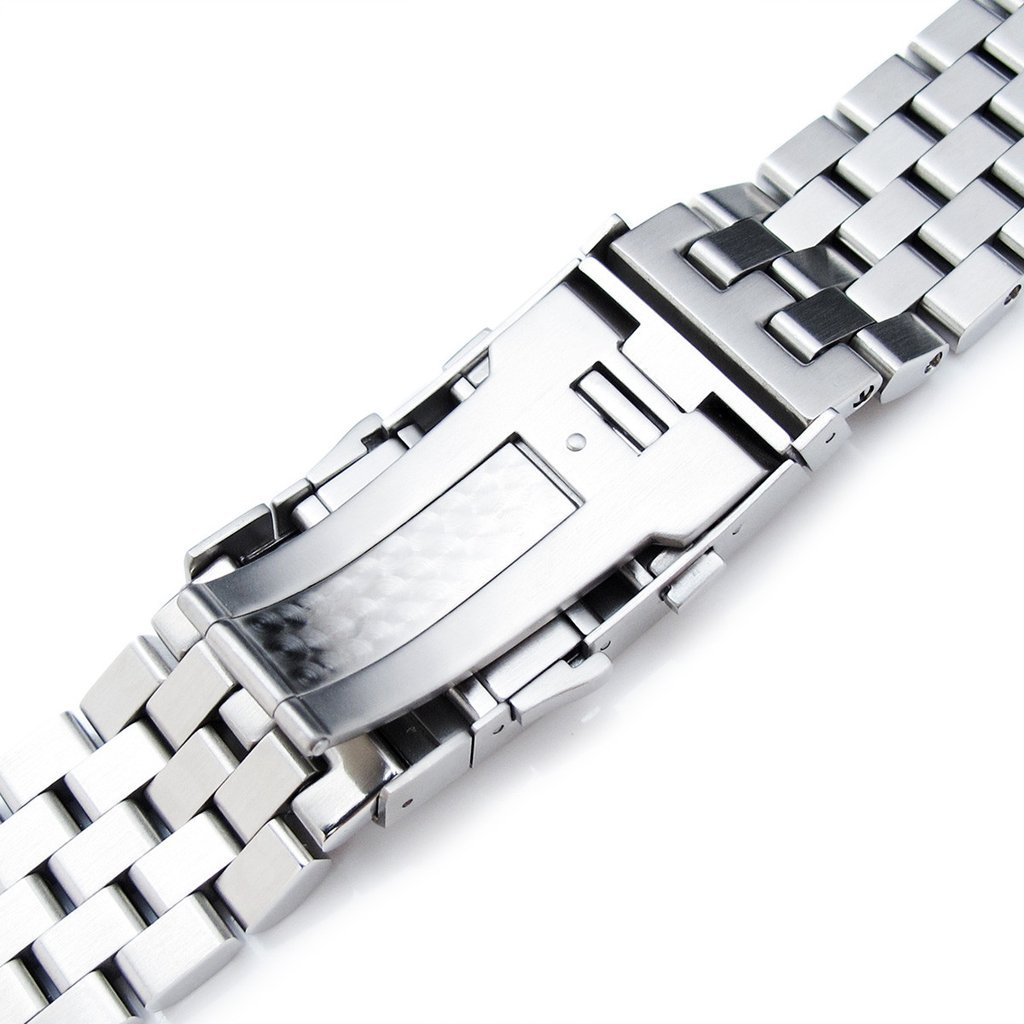 22mm Super Engineer II Straight End Watch Bracelet, Universal 1.8mm SpringBar, Ratchet Buckle by Metal Band by MiLTAT (Image #7)
