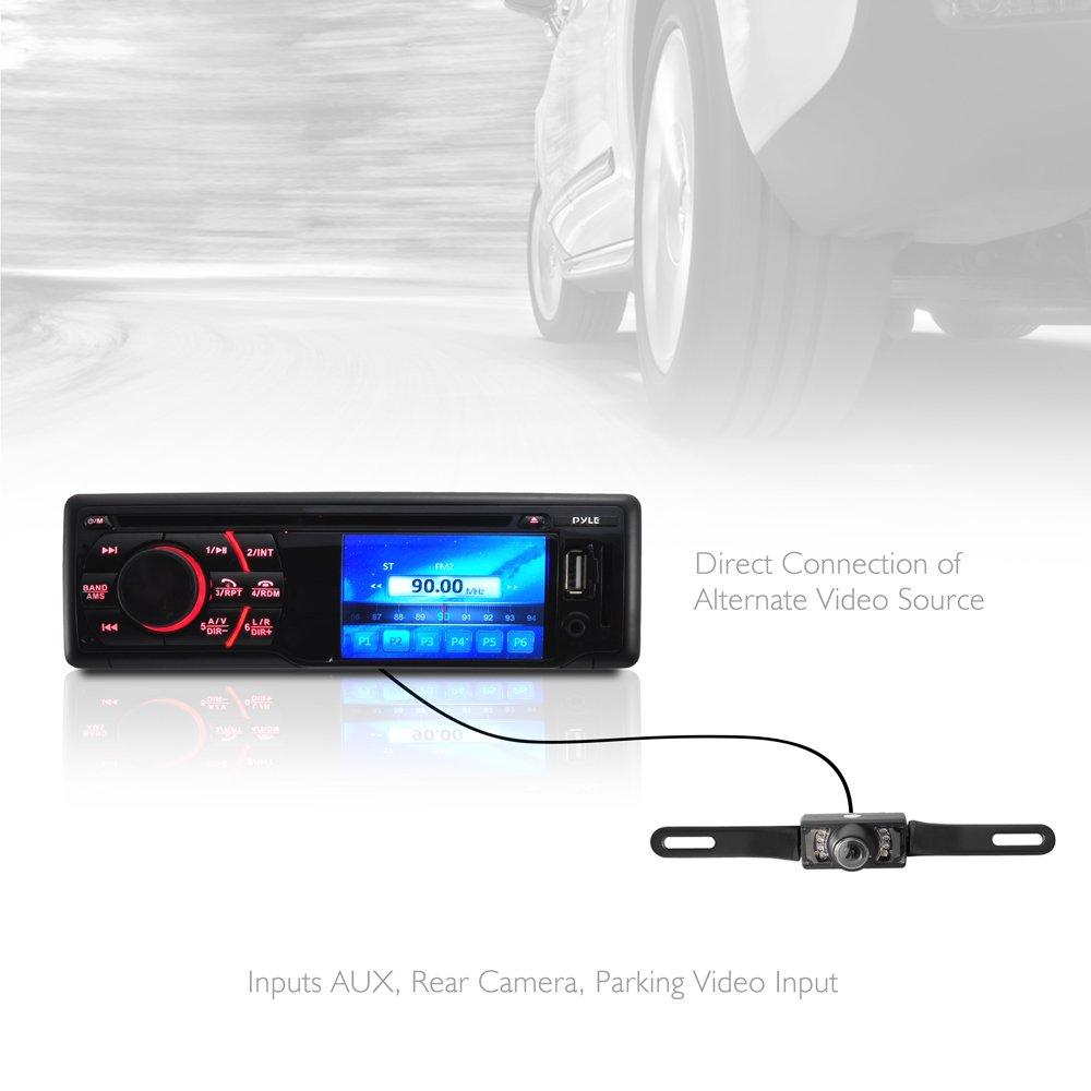 Pyle Pld34mub Bluetooth In Dash Digital Video Head Unit Receiver Plcm18bc Wiring Diagram Cell Phones Accessories