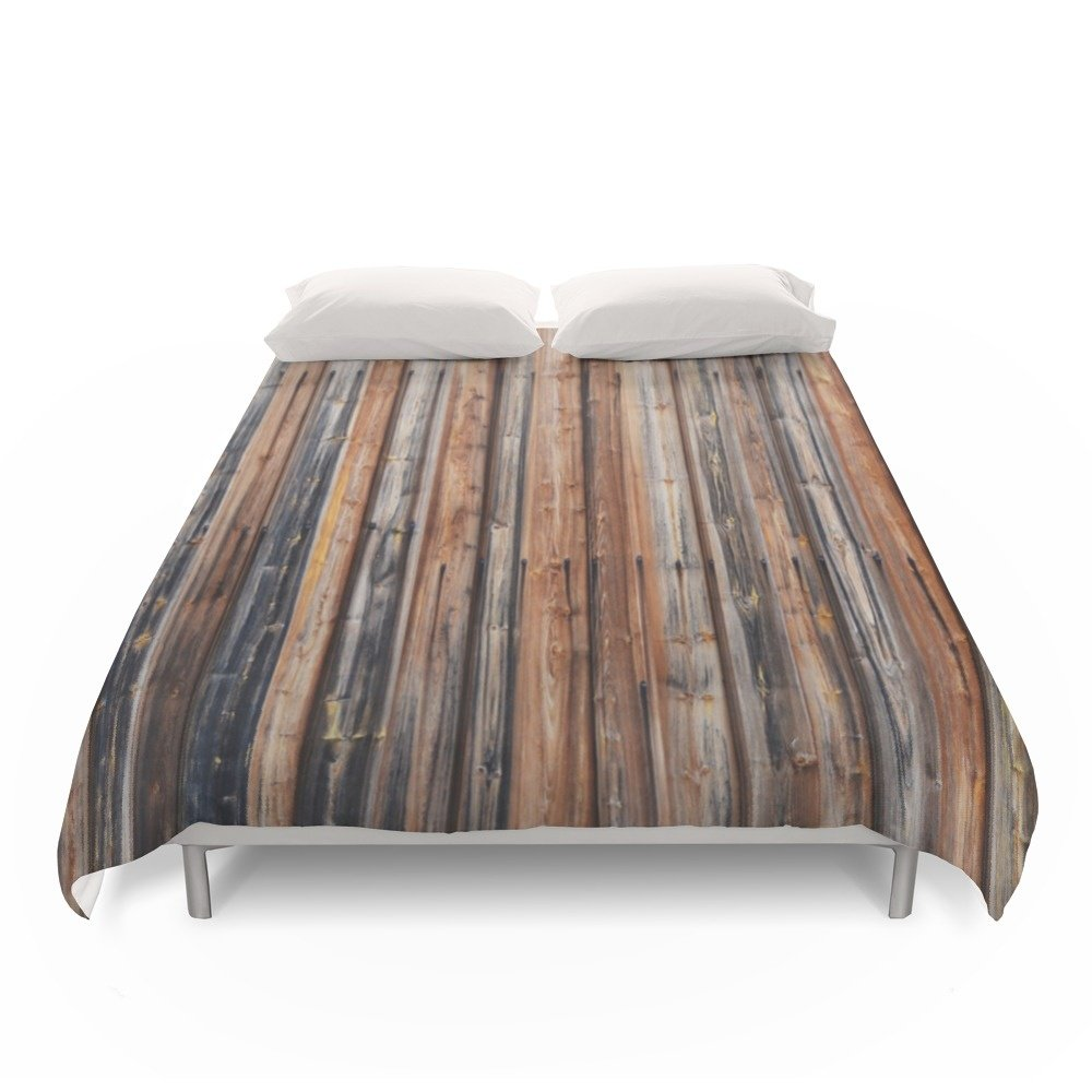 Society6 Wood Wall Duvet Covers Full: 79'' x 79''