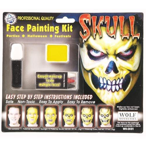 Wolf Novelties Skull Face Painting Kit]()