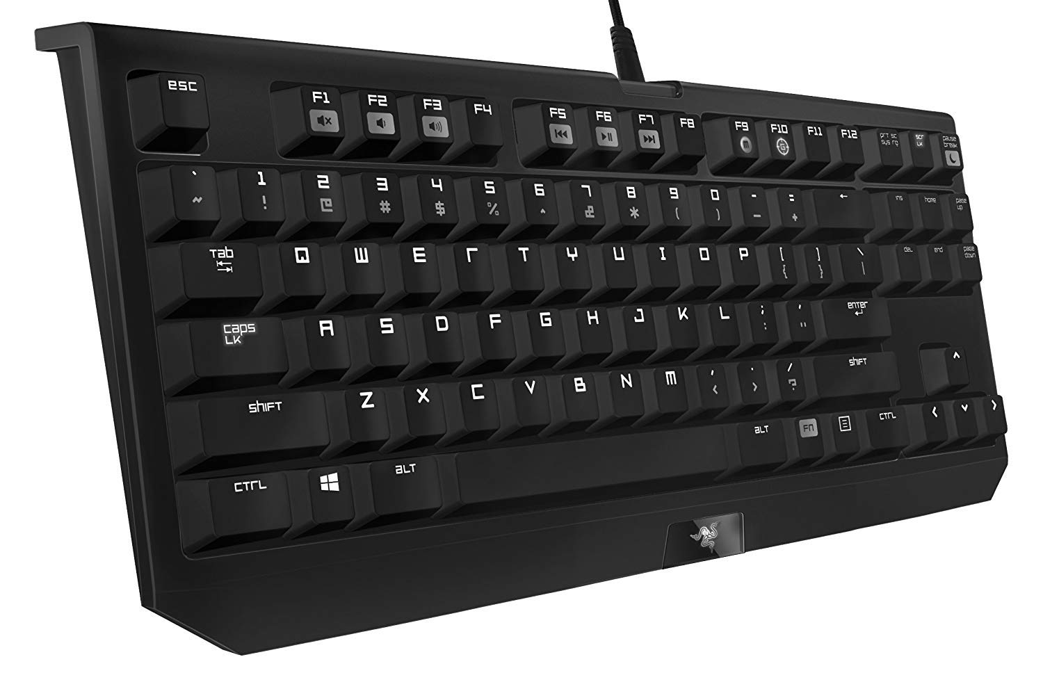 Razer BlackWidow Tournament Edition Stealth - Essential Mechanical Gaming Keyboard - Compact Layout - Tactile & Silent Razer Orange Switches by Razer