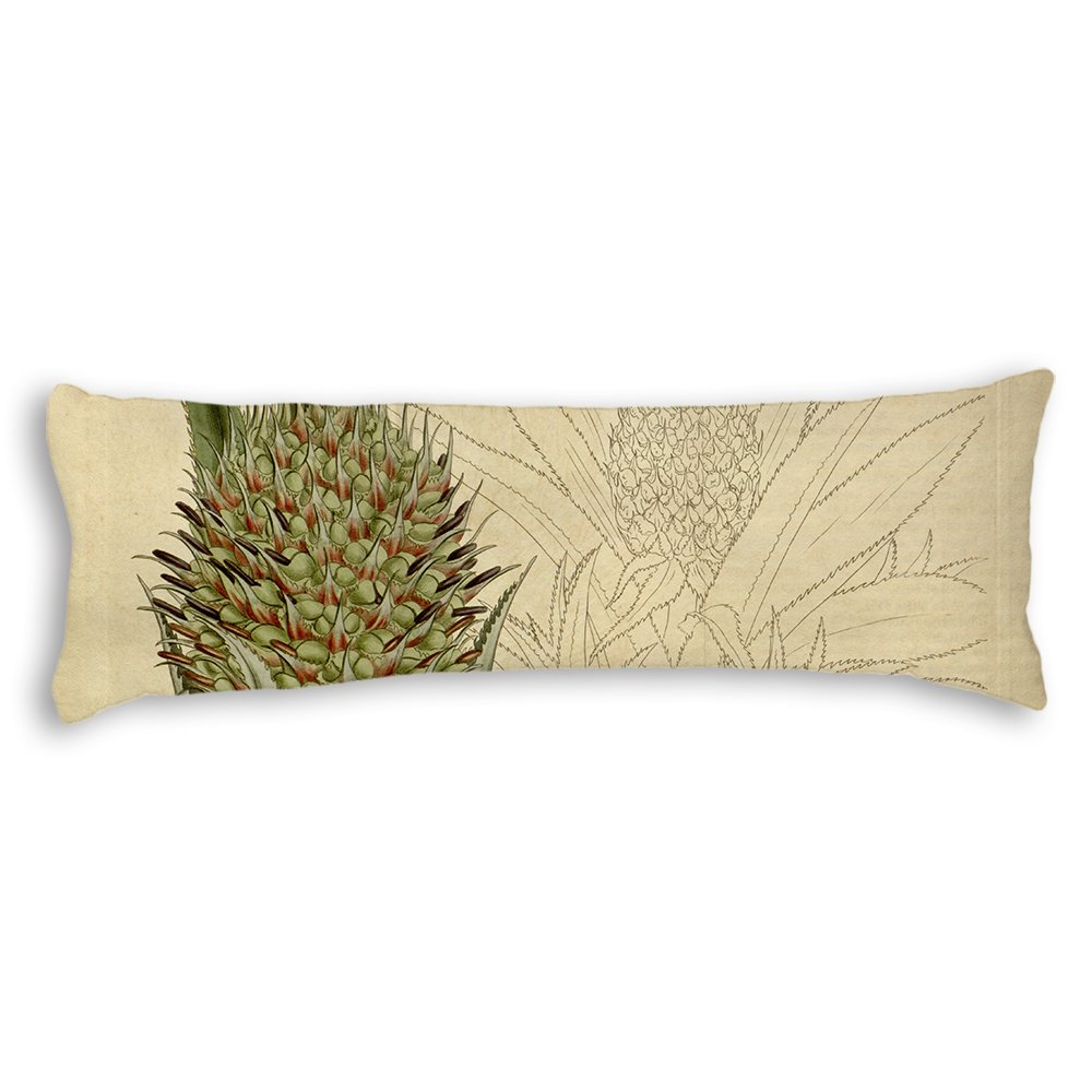 """Ojngdafs Ripe Pineapple Decorative Cotton Body Pillow Covers Cases With Double Sided 20""""x54"""" body pillow SG-192"""