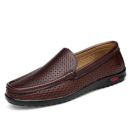 Hongjun-shoes, Clásicos Hombres conducción Penny Holgazanes Informal Slip-on Barco Suela