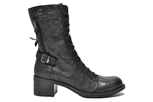 Nero Giardini Anfibi tronchetti nero 6465 scarpe donna