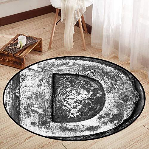 (Round Floor mat Standing Desk Round Indoor Floor mat Entrance Circle Floor mat for Office Chair Wood Floor Circle Floor mat Office Round mat for Living Room Pattern 3'11