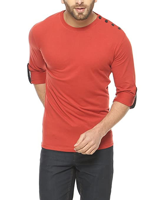 GRITSTONES Men's Cotton Full Sleeve T-Shirt Men's T-Shirts at amazon