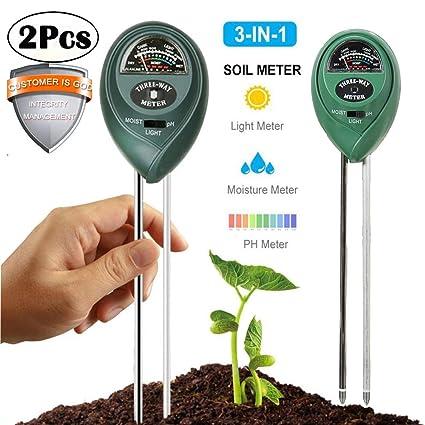 Soil pH Meter, 3-in-1 Soil Test Kit for Moisture, Light