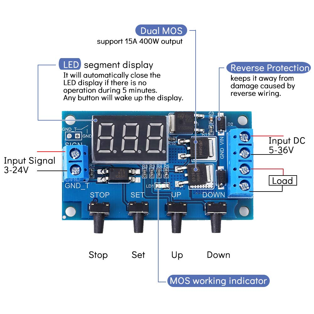 Timer Relay Icstation Dc 12v 10a Programmable Digital Time