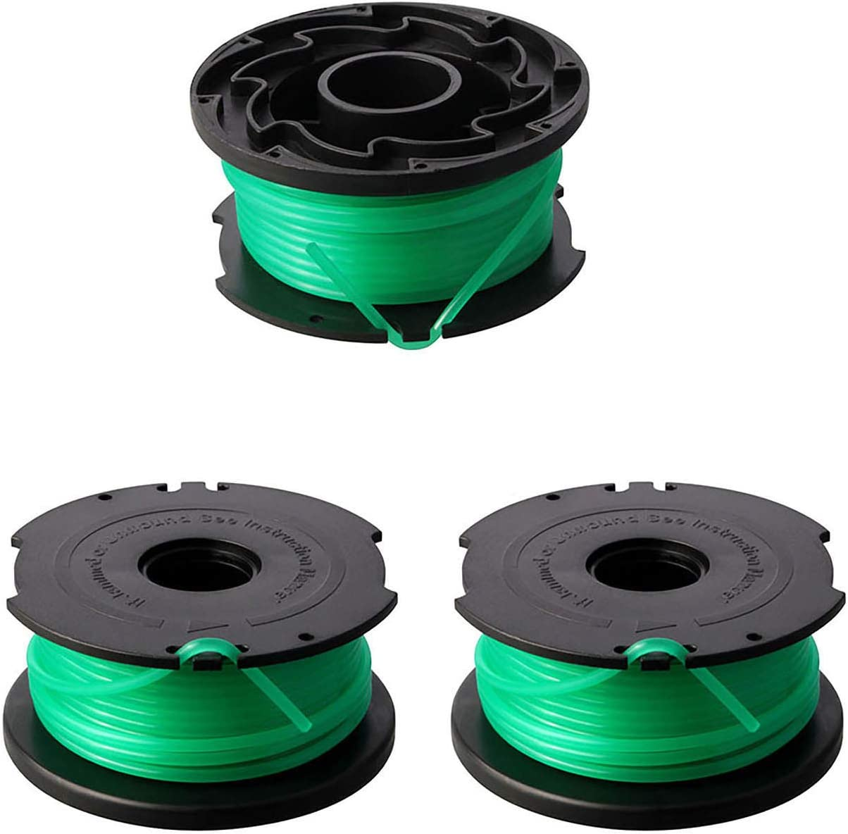 "Thten Line String Trimmer Replacement Spool Fits for Black and Decker GH3000, GH3000R, LST540, LST540B, 20ft 0.08"" Autofeed Replacement Spools Compatible with Black Decker SF- 080 (3 Packs)"