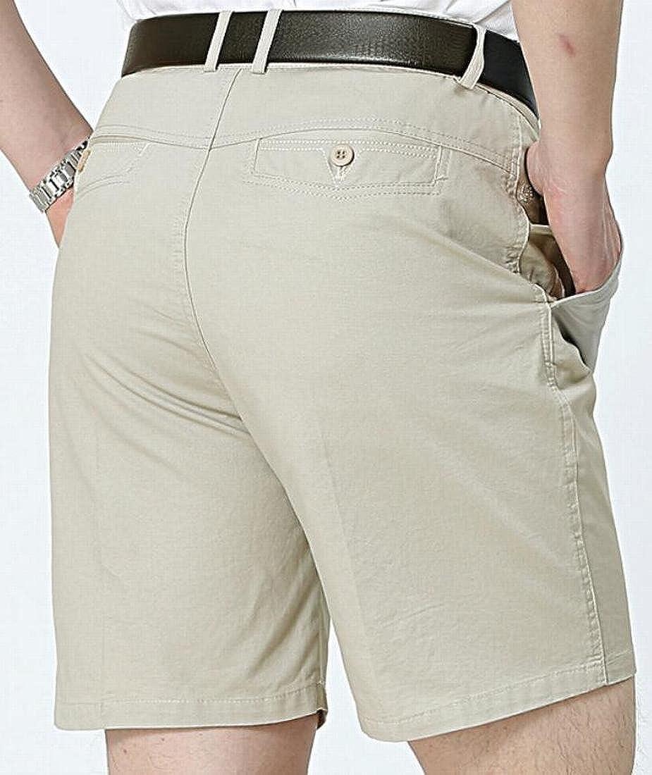GRMO-Men Big /& Tall Expandable-Waist Double Pleat Front Shorts