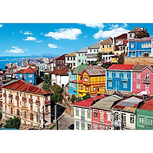 Coloreluxe 1500 Piece Puzzle - View of Coloreful Buildings by George