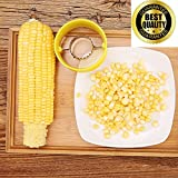 IKAXA Corn Stripper, Corn Cob Cutter Corn Peeler Cob Remover Corn Shucker Kitchen Cooking Tools with Hand Protector - As Seen On Tv