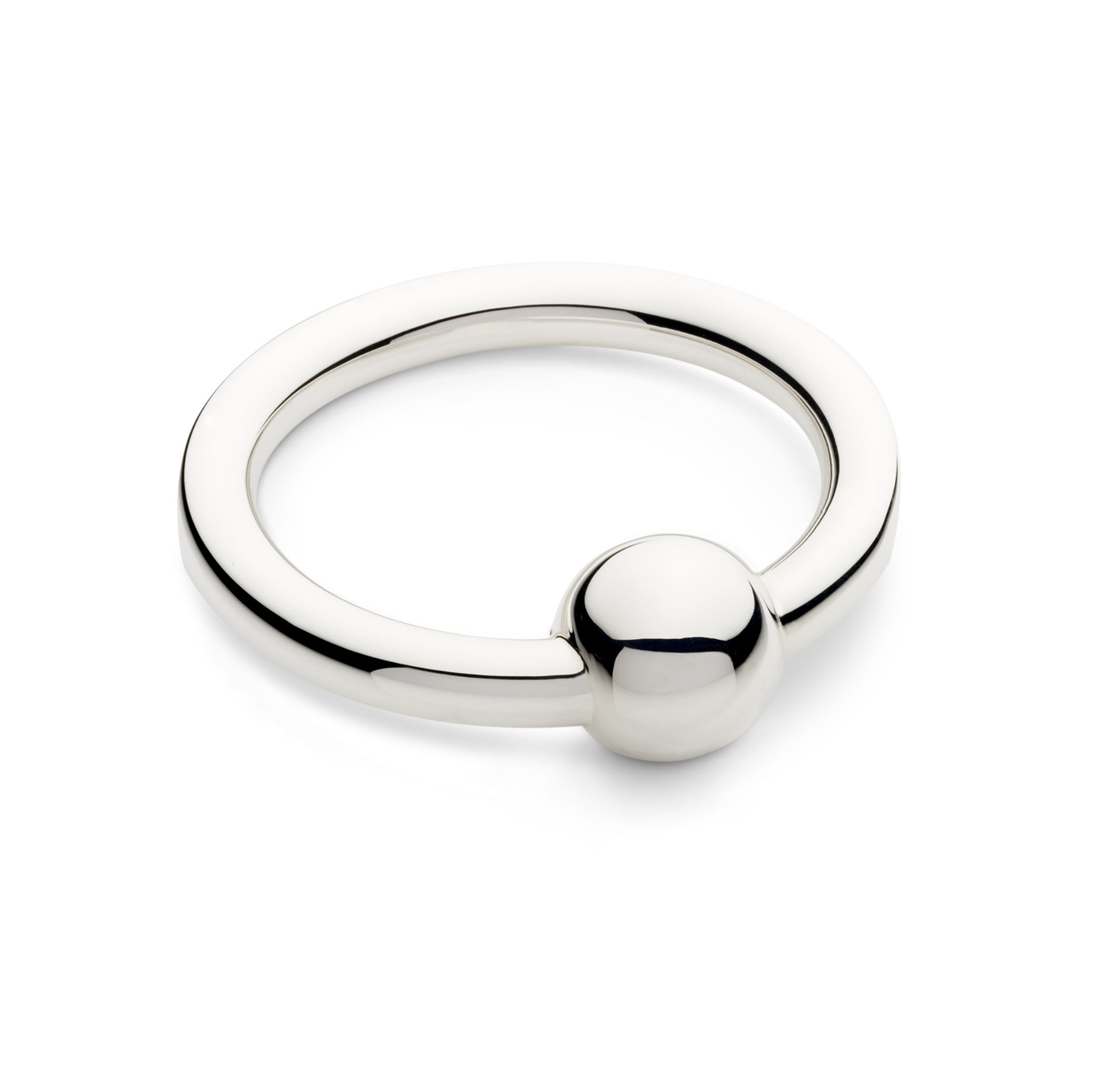 Cunill 5-Ounce Single Ring/Ball Baby Rattle, 2-Inch, Sterling Silver by Cunill