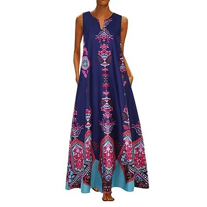 Vestidos Largos Raya Verano Mujer,Wave166 Casual Vestido De Verano ...