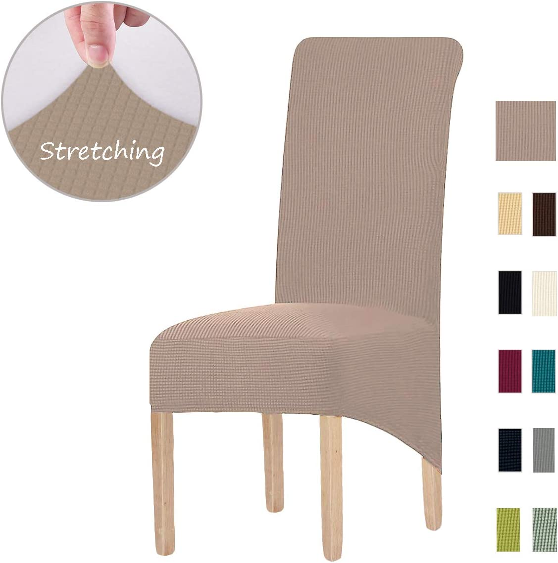 Home Dining Chair Slipcovers Burgundy Red 6 Pcs Packet Stretch Removable Washable Chairs Slipcovers Protector Furniture Cover For Kitchen Banquet Party Wedding Ceremony Set 6 Pack Dining Chairs Covers With 2 Furniture Pads