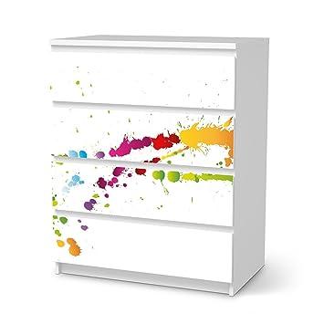 Creatisto Schutzfolie Für IKEA Malm 4 Schubladen | Dekoration Möbel Sticker  Folie Möbeltattoo | Möbel