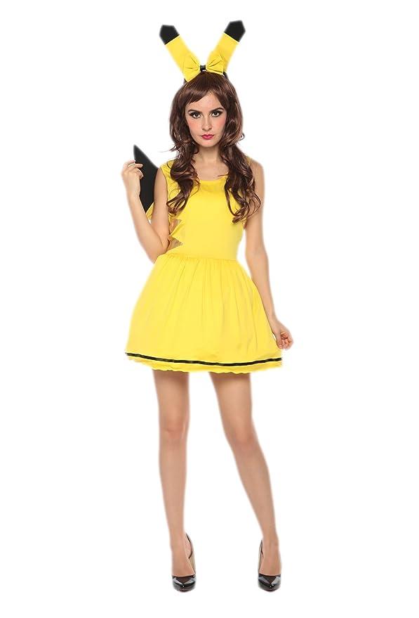Amazon.com: jj-gogo Sexy Pikachu disfraz: Clothing