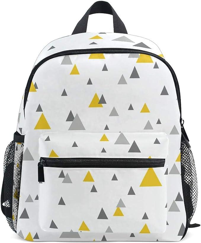 Vikko Mochila infantil geométrica com triângulo abstrata