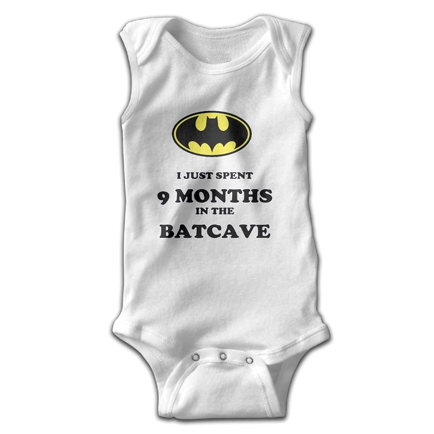 eba5cf844 Qjjfoei-jia Baby I Just Spent 9 Months in The Bat Cave Convenient Baby  Romper