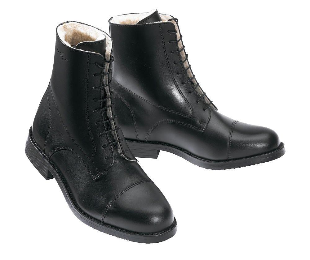 Boots NORTON fourrées à lacets - noir