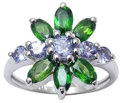 usa pas cher vente belle qualité belle et charmante Banithani 9.25 argent indien Pure Fashion Tanzanite Et Crome ...