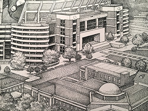 Alabama football stadium with elephant 11''x17'' pen and ink print from hand-drawn original by Campus Scenes (Image #5)