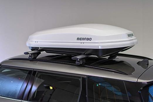 F Lli Menabo Srl 81700000 Menabo Diamond Roof Box Gloss 450ltr Diamond 450 White Auto