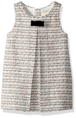 kate spade new york Girls' Toddlers' Tweed Jumper, Black/Cream/Pink, 2 by Kate Spade New York