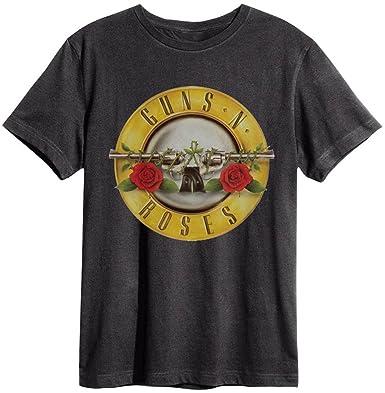 Amplified - Guns N Roses Herren Rock Band T-Shirt - Drums Logo grau (