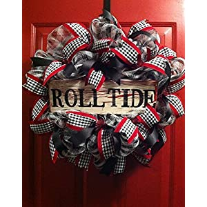 Roll Tide Alabama Wreath, Alabama Football Wreath 29