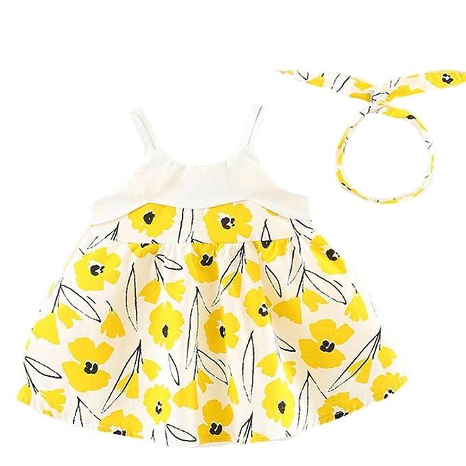 Vestido Para Bebé NiñAs DRESS Start® Vestido Linda ImpresióN Floral Vestido De La Honda Sin