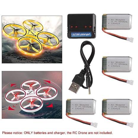 3.7V 550mAh Li-po batería para ZF04 infrarrojo 2.4G RC Drone ...