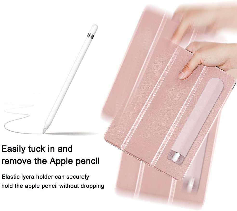 Black Elastic Stylus Pocket Pouch Adhesive Stylus Pen Sleeve Attached to Case for Apple Pencil and Other Stylus Pens ProCase Pencil Holder Sticker for Apple Pencil 1st and 2nd Gen