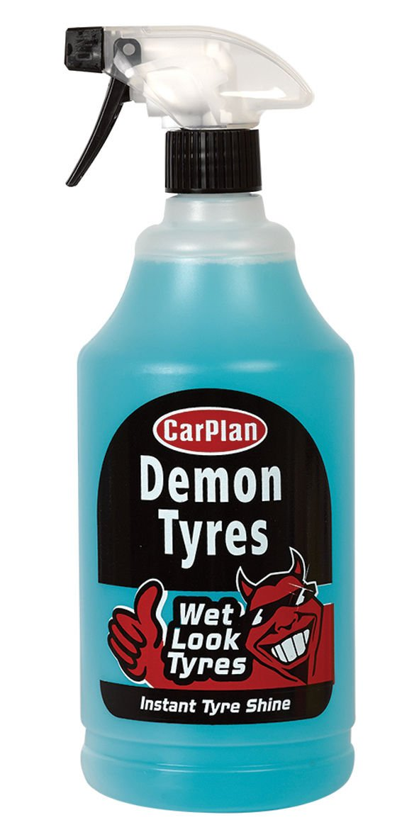 CarPlan Demon Tyres 1L Instant Tyre Shine Cleaner Polisher Wet Look Tyres