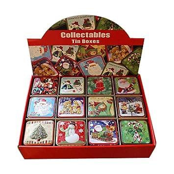 Waroomss - Caja para bombones de Navidad, 12 unidades, caja de ...