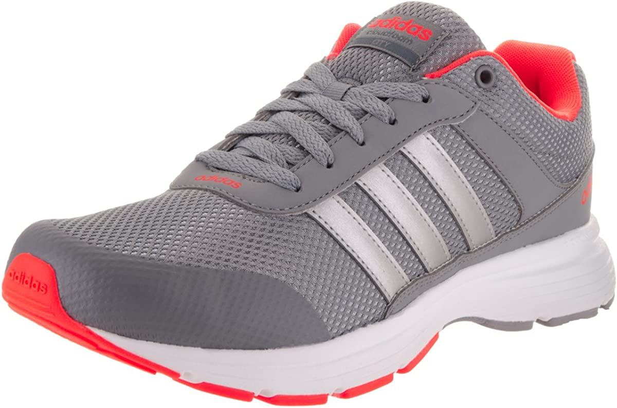 adidas NEO Men's Cloudfoam VS City Shoes (9 D(M) US, Grey/Silver Metallic/White)