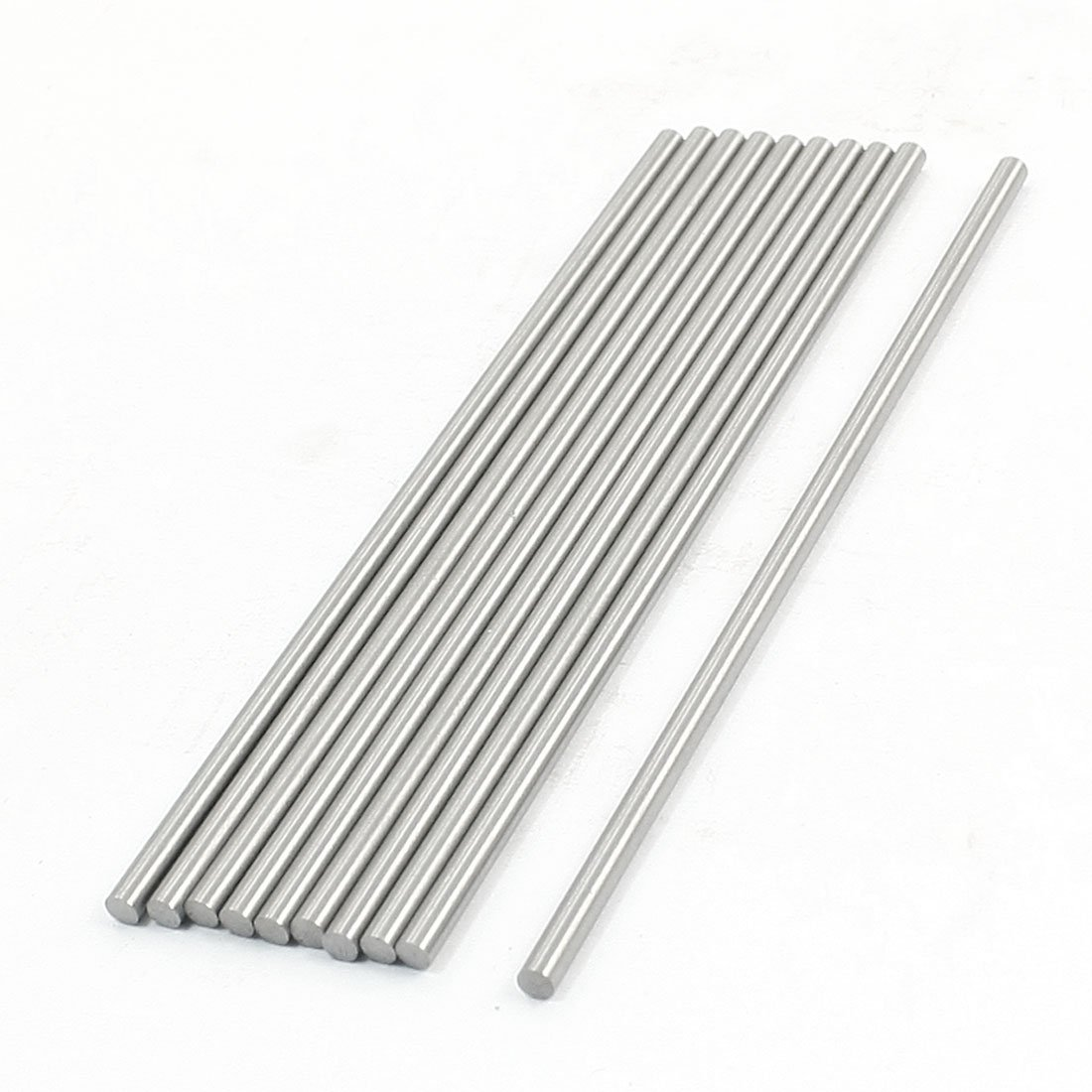 2.8mm x 100mm Graving Tool Round Turning Lathe Bars Silver Tone 10 Pcs Sourcingmap a14021800ux0789