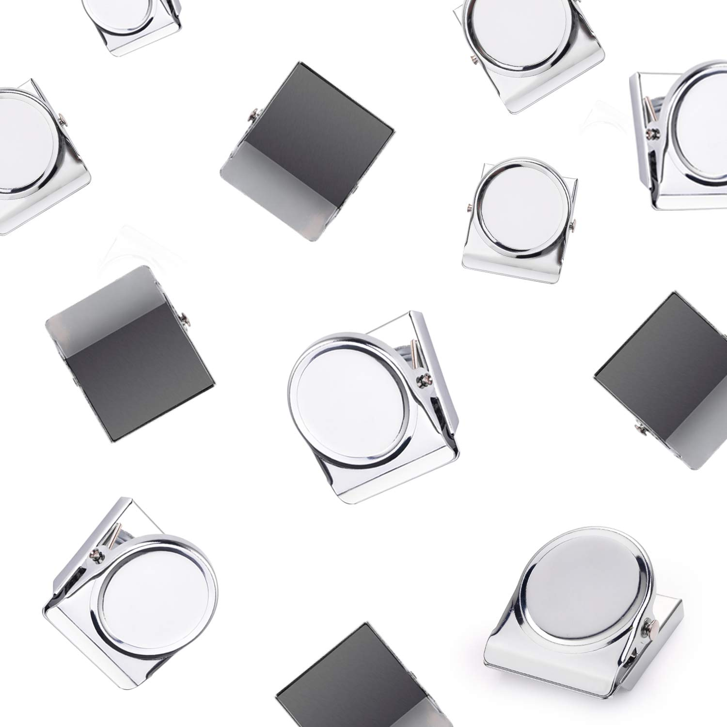 Bonus Magnetic Notepad Upgraded 10 Pack Best Value Set Strong Scratch-Free Refrigerator Magnet Clips for Organizing Decorating /& All of Lifes Needs