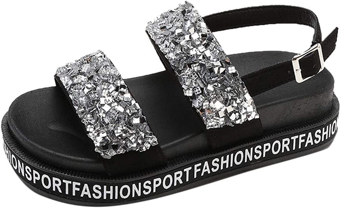 Lurryly Platform Sandals for Women,Sandals Retro Buckle-Strap Sandals Bottom Roman Shoes