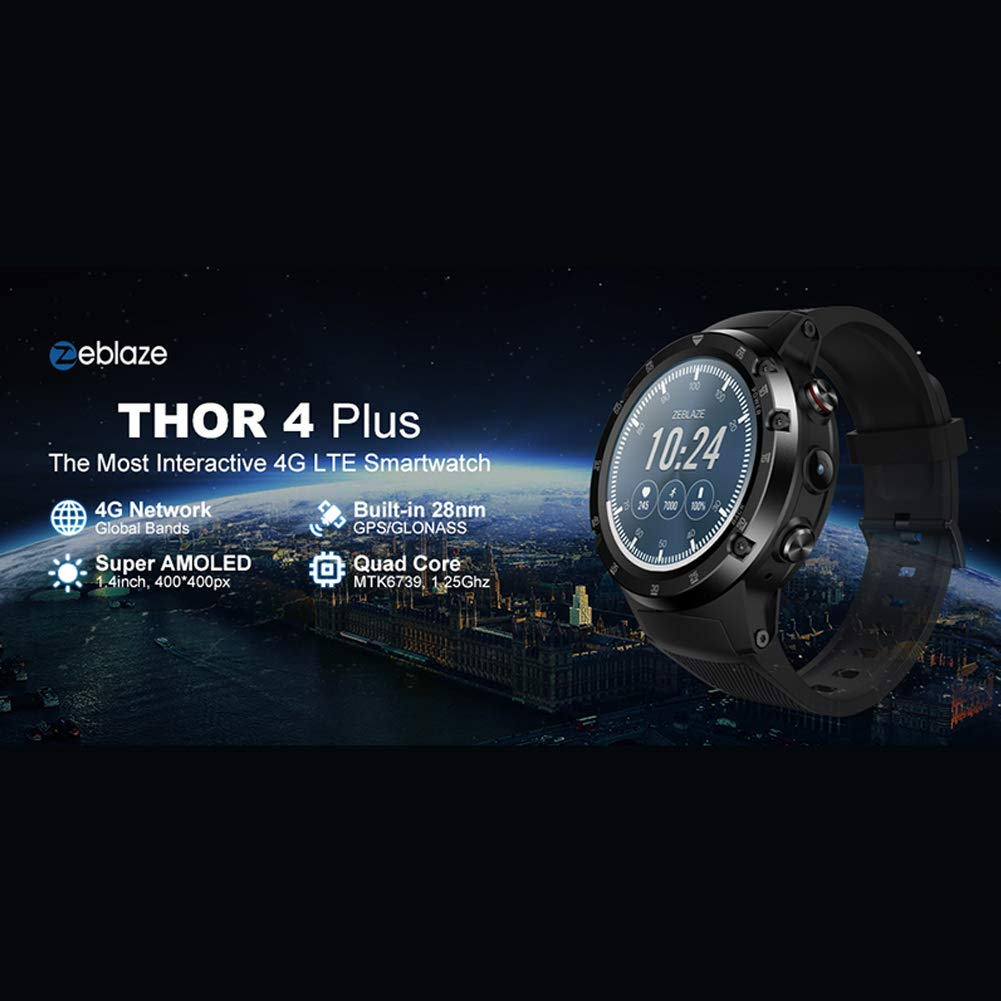 Zeblaze Thor 4 Plus Smartwatch, 4G Reloj Inteligente Android 7.1 ...