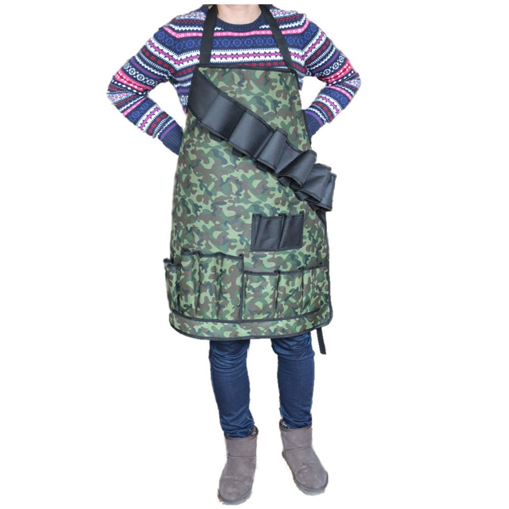 SHKY Grill Sergeant BBQ Apron, Cotton Camouflage Gag Gift,for Cookouts and Bottle Opener Barbeque Aprons,with Pockets Army Green Camouflage