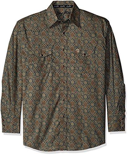 Wrangler Mens Big /& Tall George Strait One Pocket Long Sleeve Button Shirt